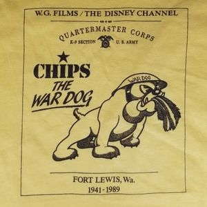 Vintage 1989 Disney Chips the War Dog tee